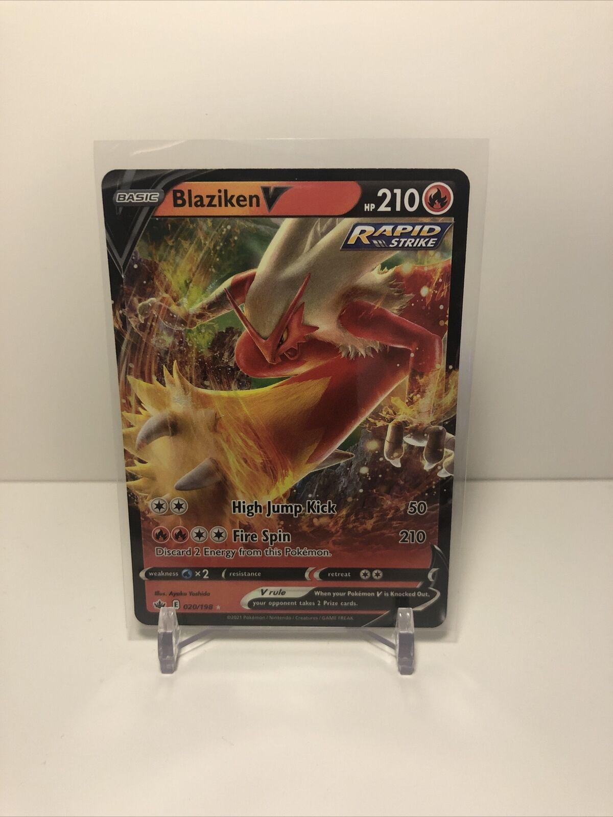 Blaziken V Pokémon Card (Chilling Reign 020/198) Ultra Rare