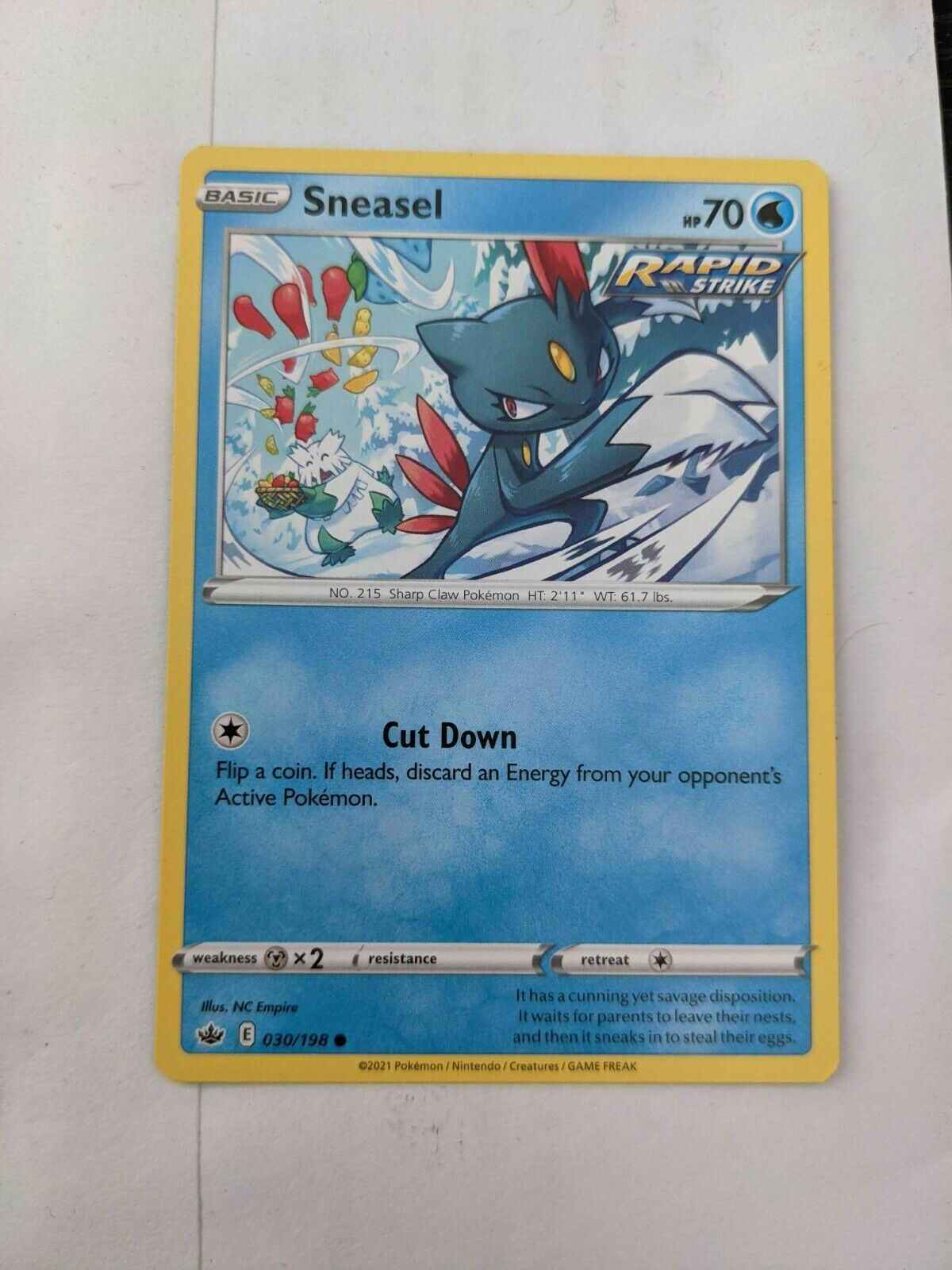 Sneasel NM Chilling Reign 030/198
