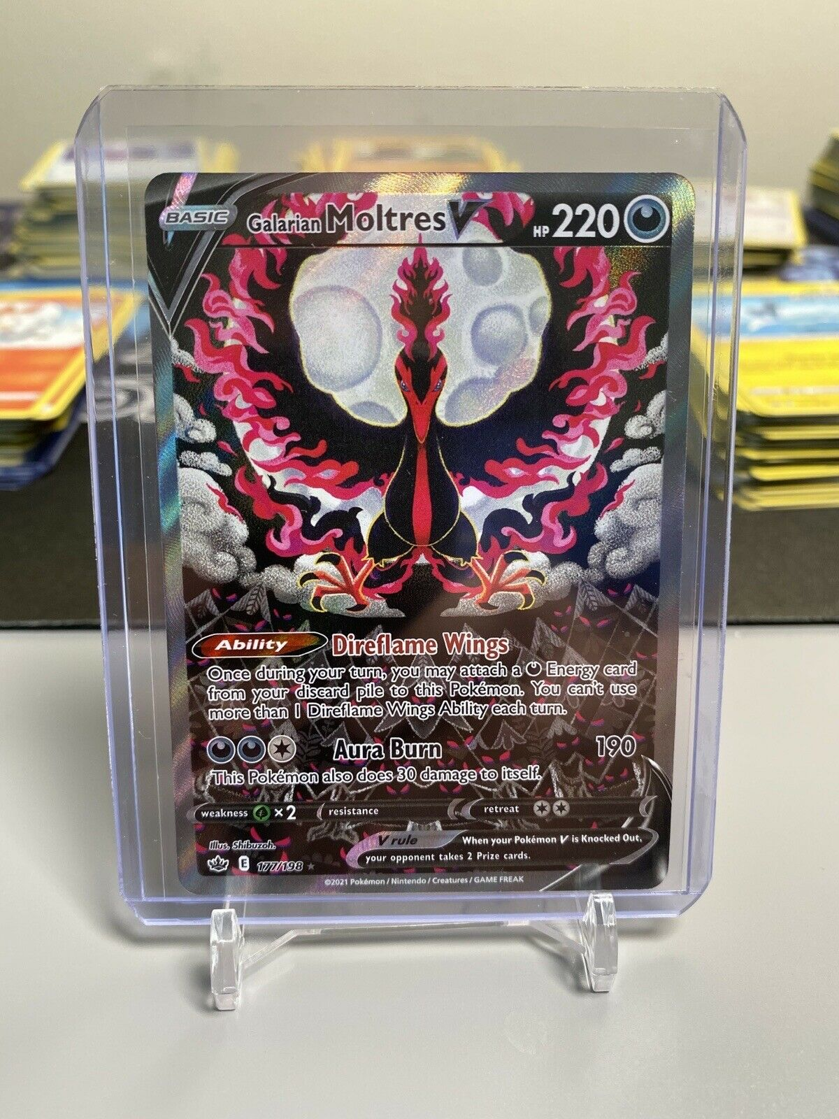 Pokémon Chilling Reign Galarian Moltres V Alternate Art 177/198