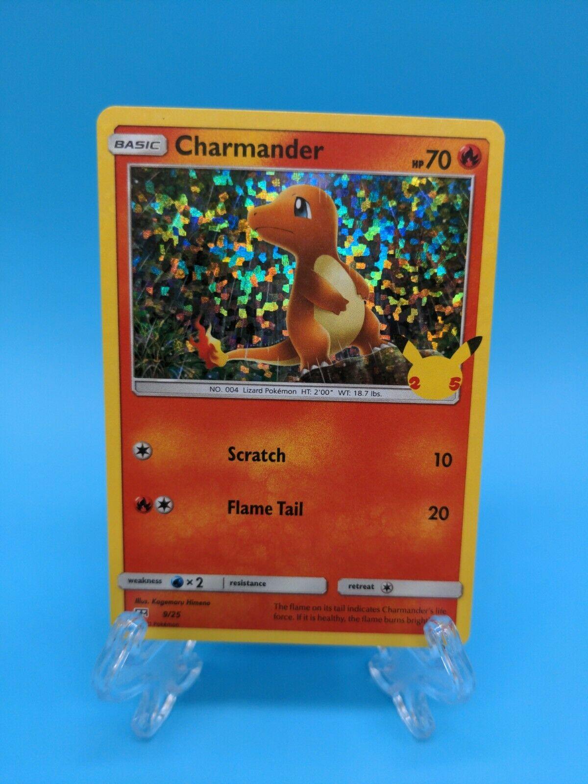 Charmander 9/25 Holo McDonald's 25th Anniversary Pokemon TCG Promo Near Mint
