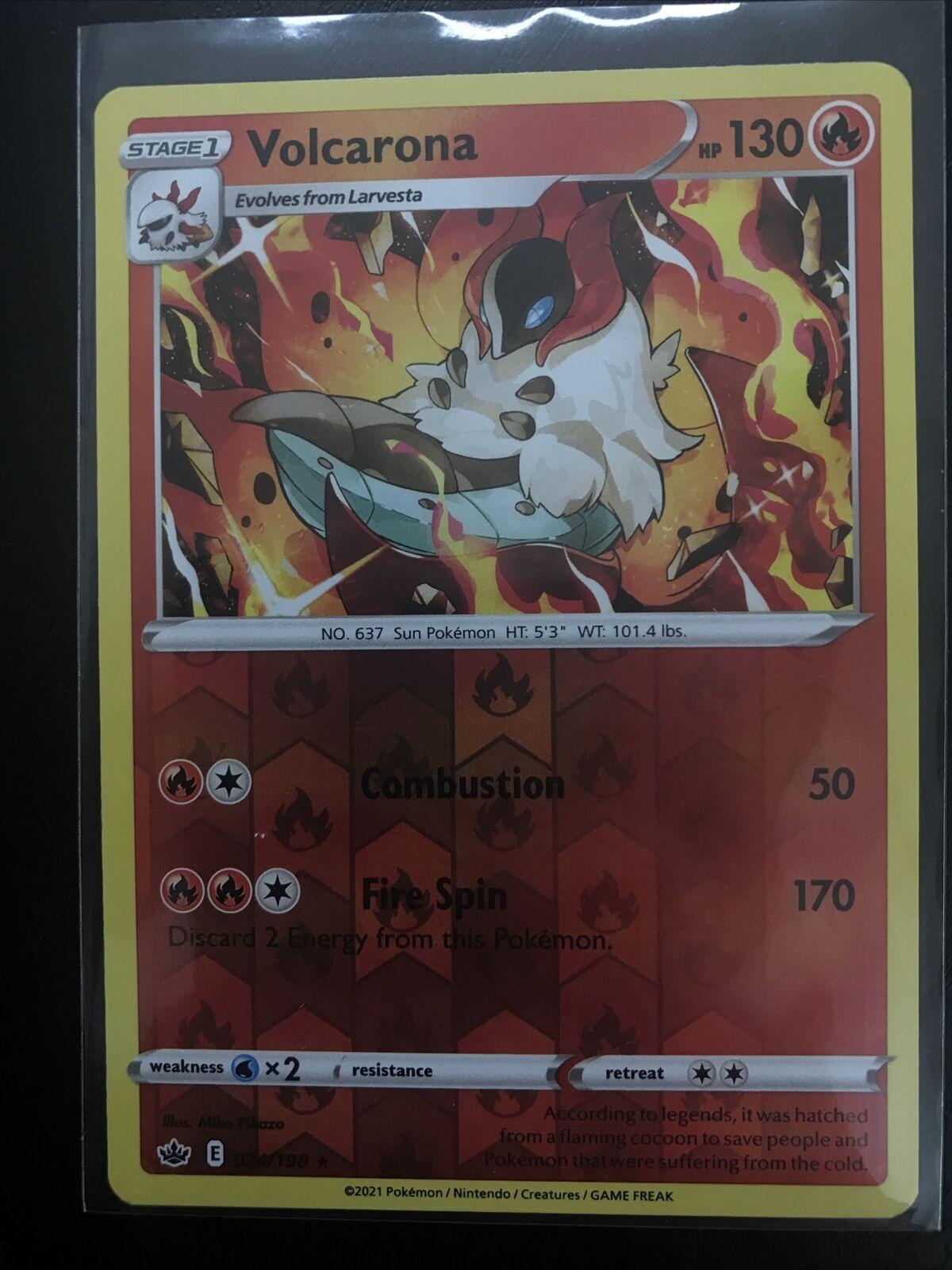 Pokemon Volcarona 024/198 Reverse Holo Rare Chilling Reign Near Mint - Image 1