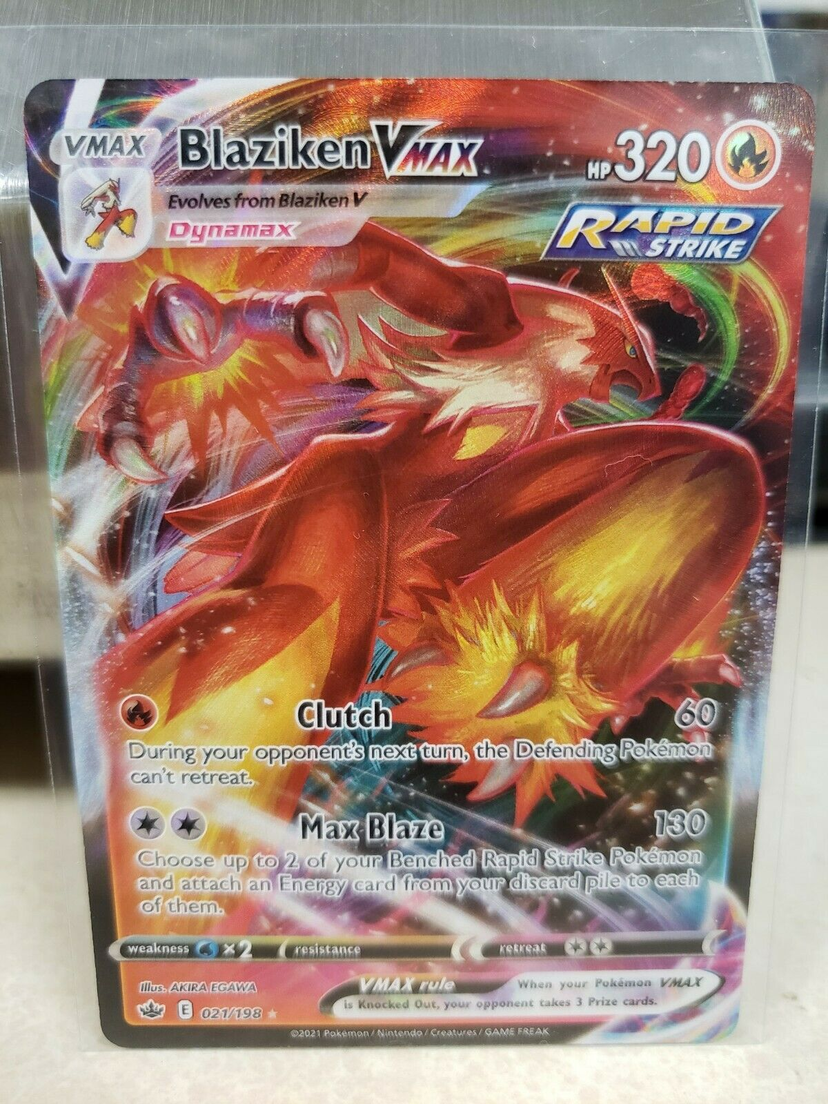 Pokemon - Blaziken Vmax - 021/198 - Full Art - Chilling Reign - NM/M - New