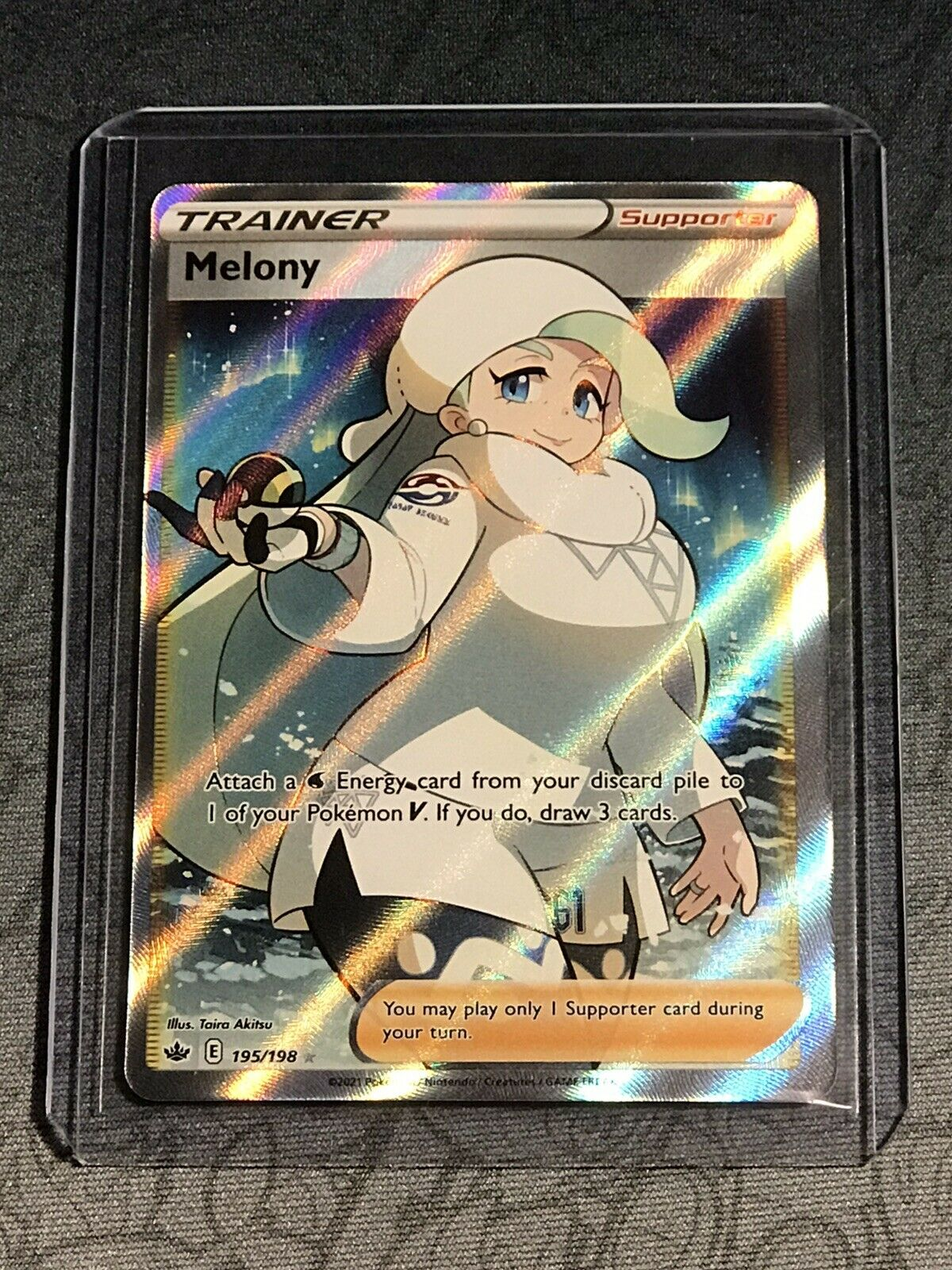 Melony 195/198 Chilling ReignFull Art Trainer Ultra Rare Pokemon Card
