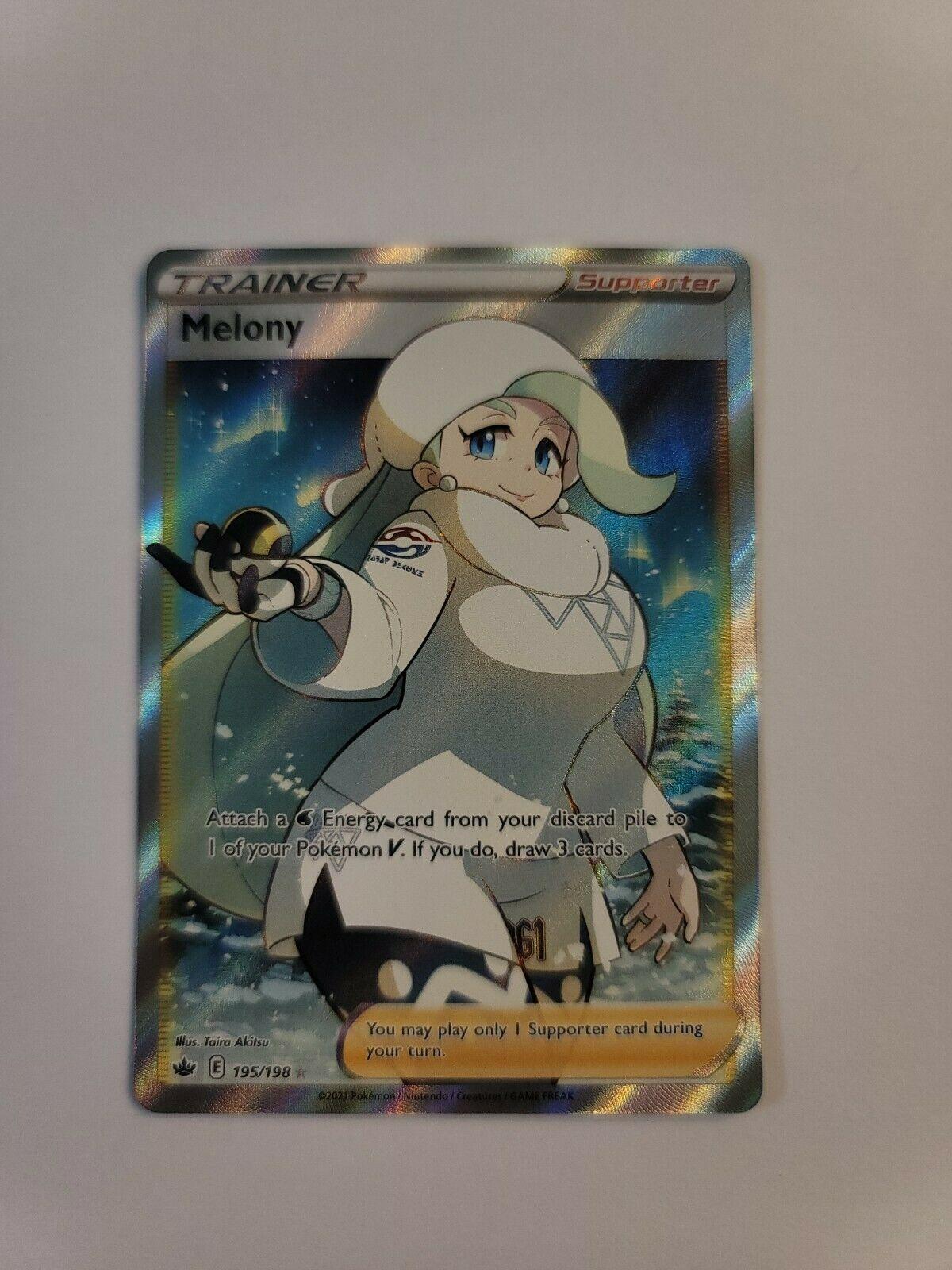 Pokémon Melony 195/198 Full Art Trainer Chilling Reign NM/M