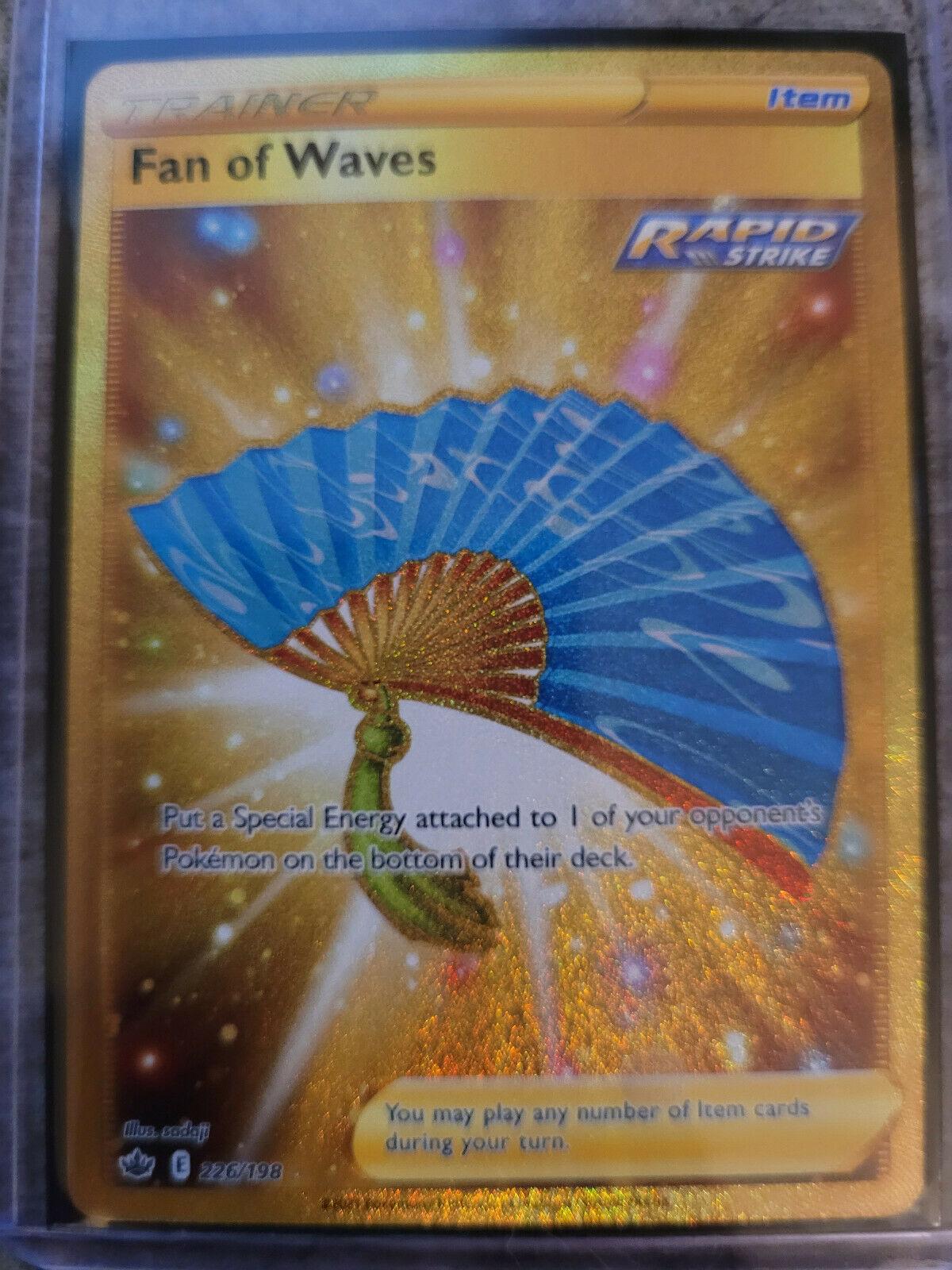 Fan of Waves 226/198 Gold Rare Chilling Reign Pokemon Card Mint/Near Mint