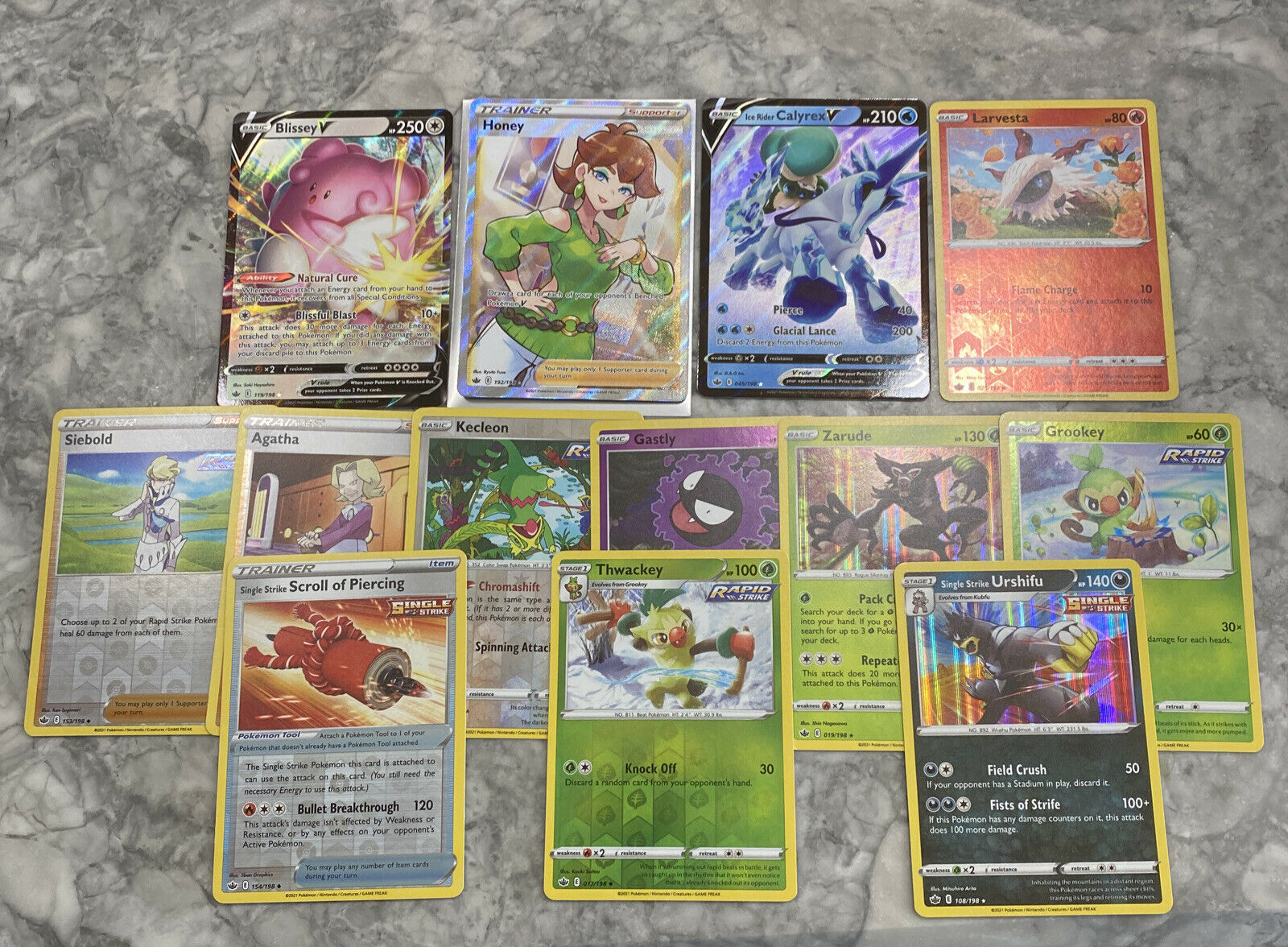 Honey 192/198 Full Art Ultra Rare Chilling Reign M/NM with 12 more cards! - Image 2