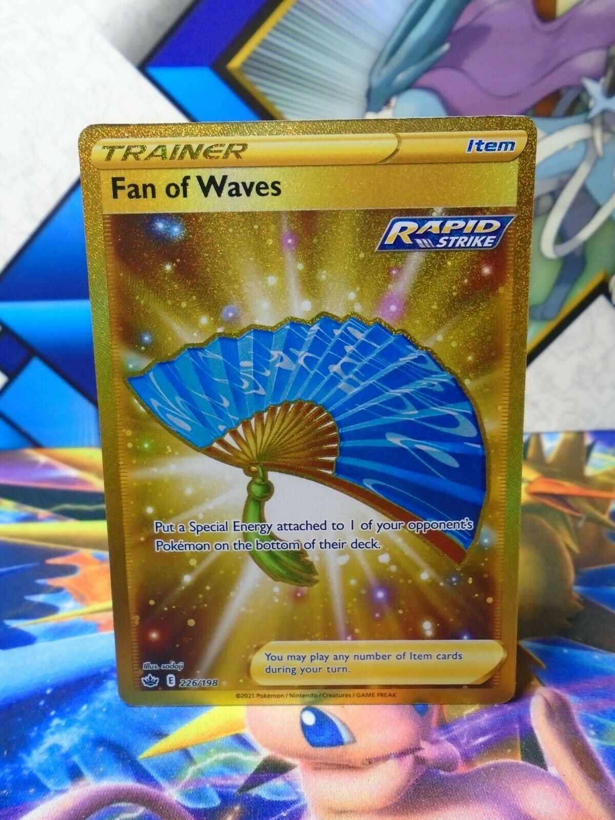Fan of Waves 226/198 - Secret Rare - Chilling Reign - Fast Free Shipping!