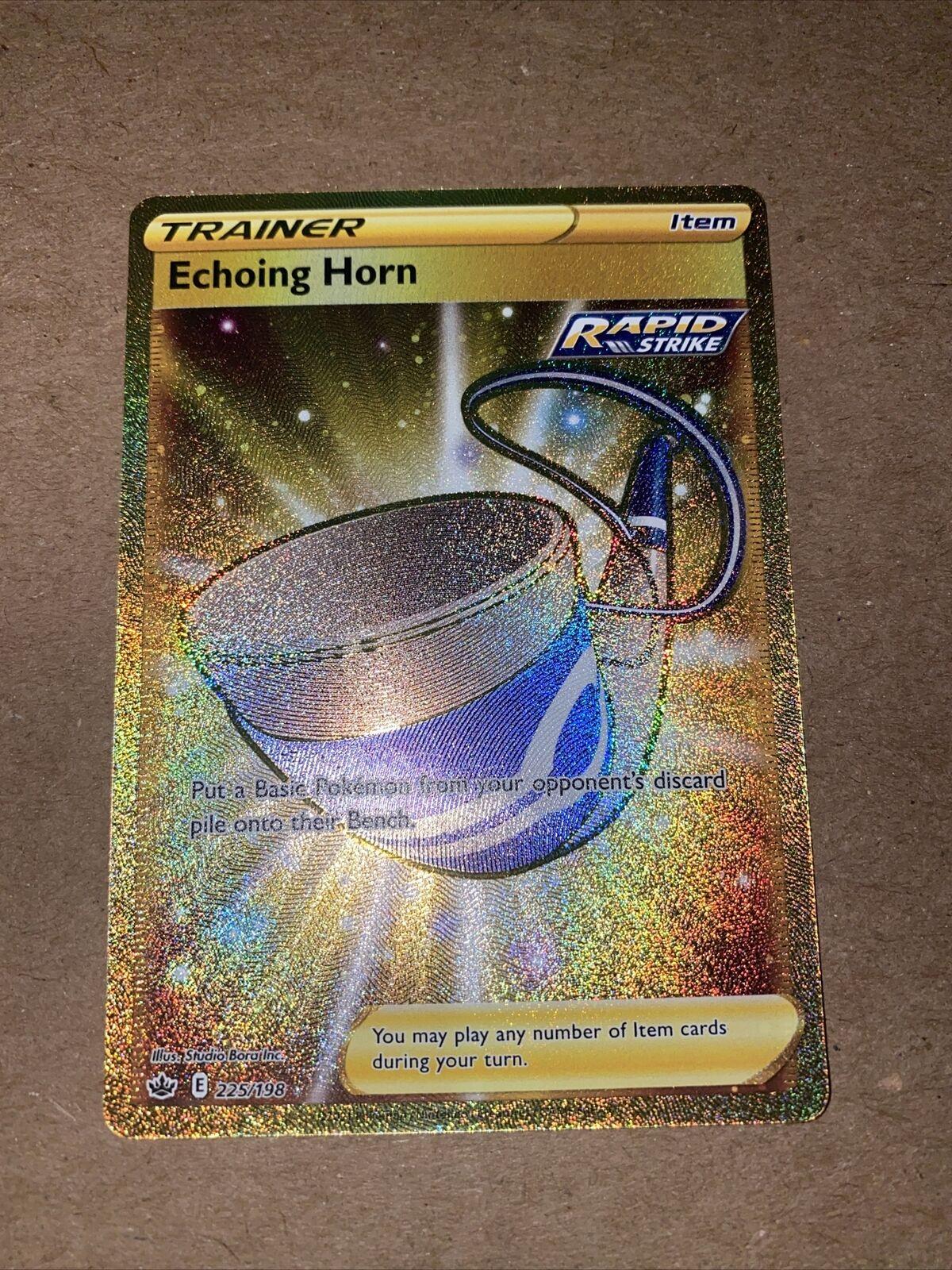 Pokemon TCG - Chilling Reign - Echoing Horn Gold Card 225/198 Secret Rare MINT