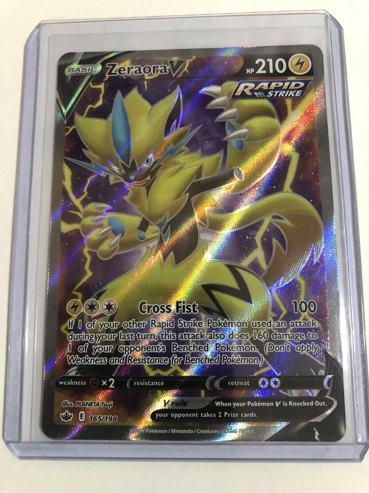 Zeraora V 165/198 Chilling Reign Full Art Rare Pokémon TCG