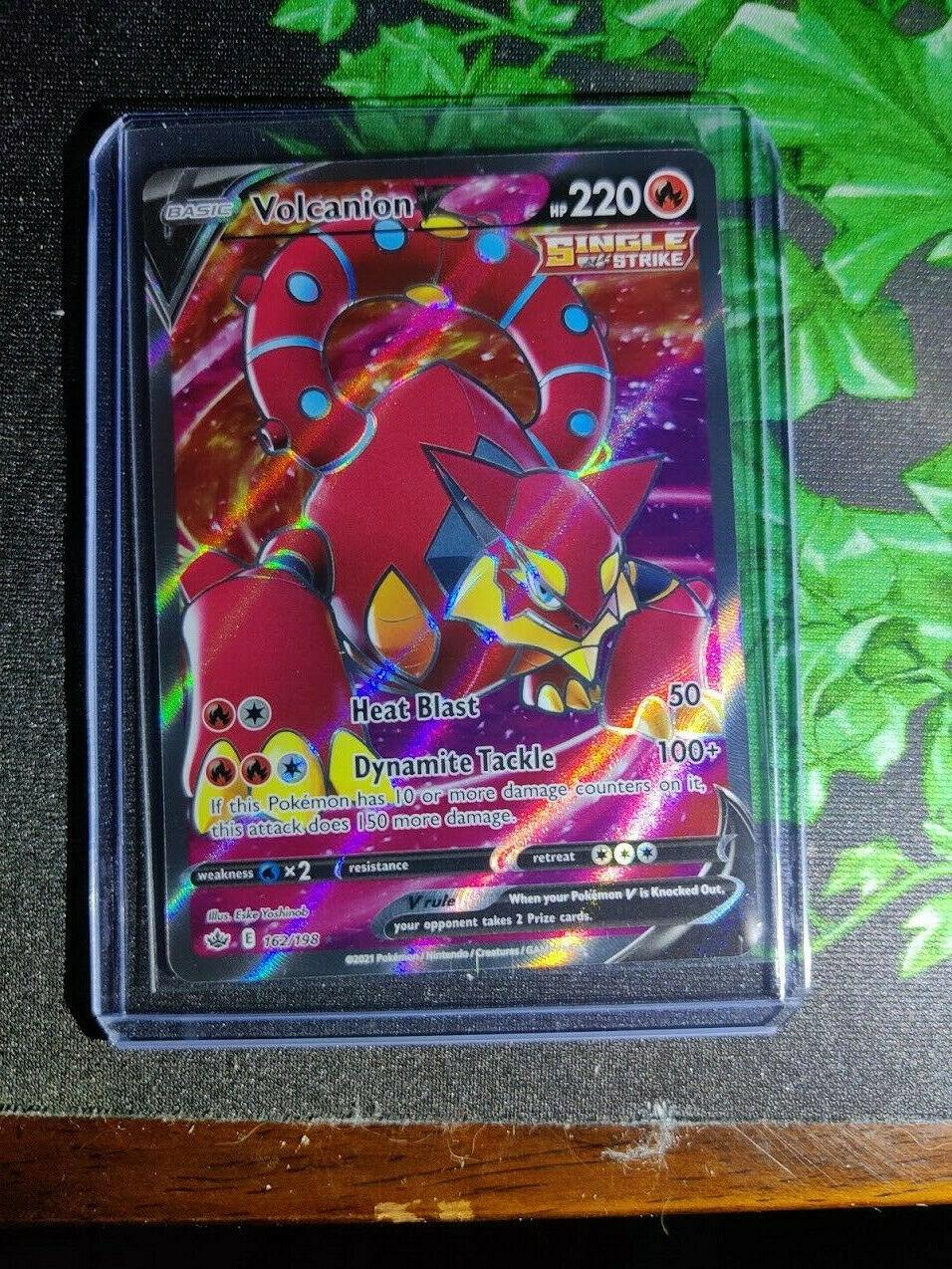 Volcanion V - Full Art Ultra Rare Pokemon SS06 Chilling Reign M/NM - 162/198