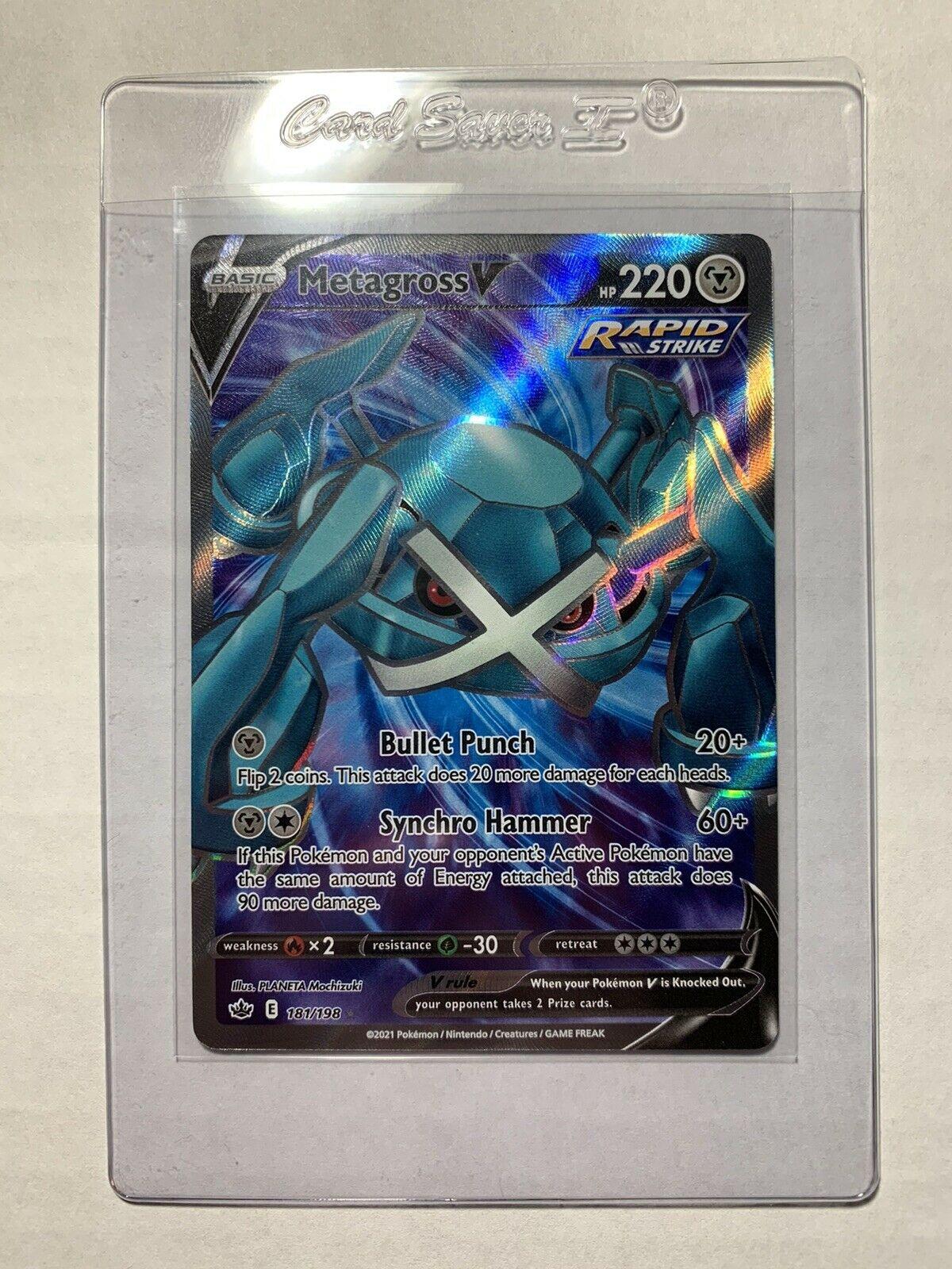 Metagross V 181/198 Rapid Strike Ultra Rare - FULL ART Chilling Reign