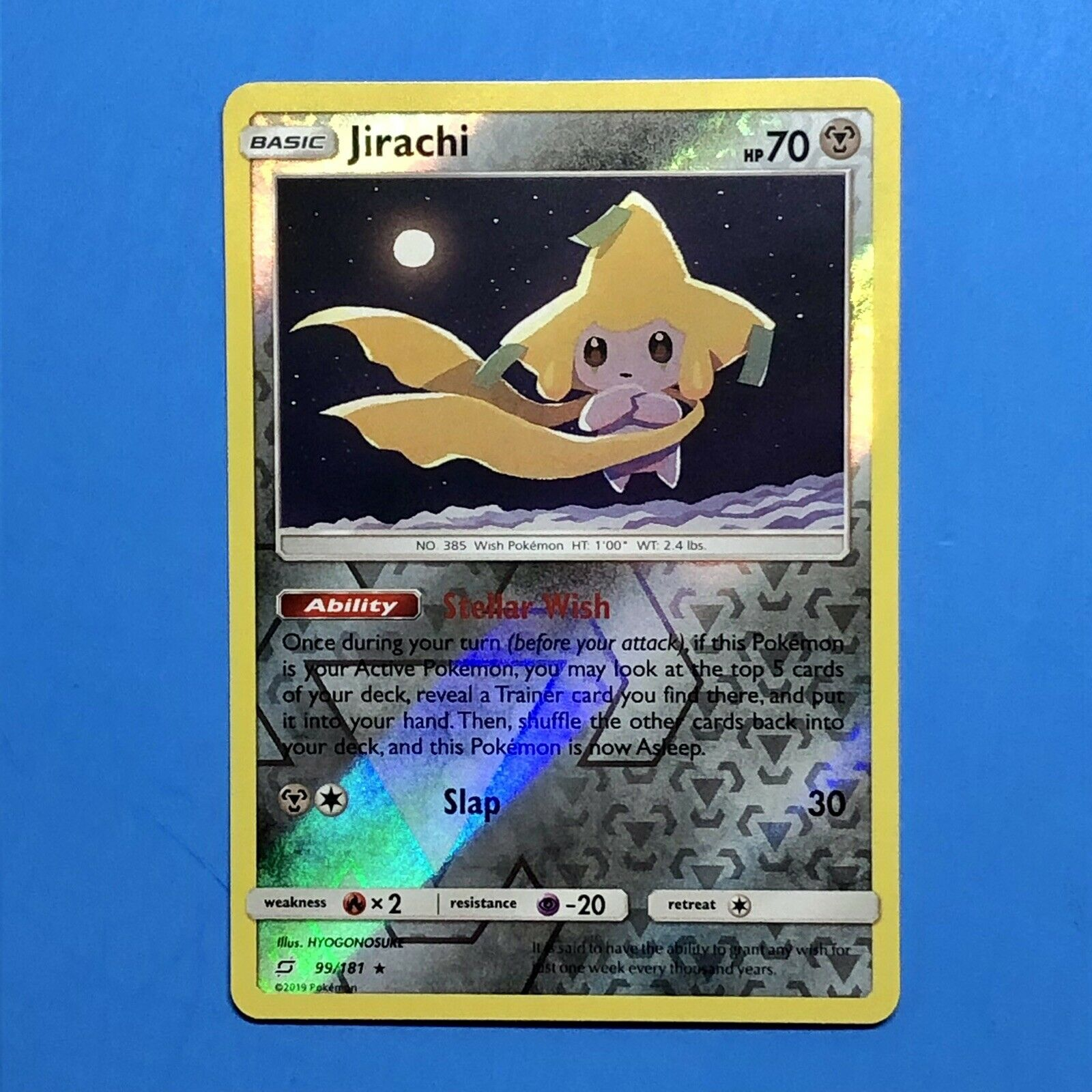 JIRACHI 99/181 Reverse Holo Pokemon Card NM/M Sun A& Moon Team Up
