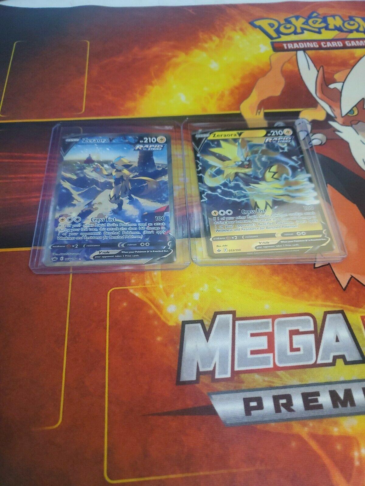 Pokemon Card Chilling Reign Zeraora V Alt Full Art Ultra Rare NM/M 166/198