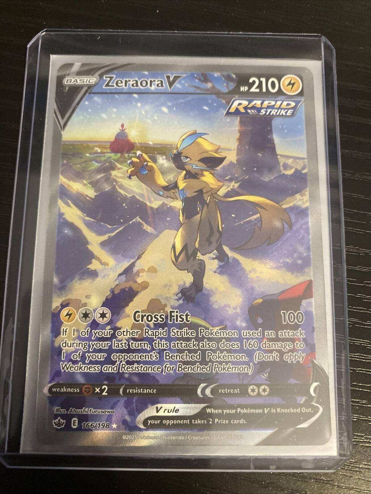 Pokemon Chilling Reign - Zeraora V 166/198 Alt Art Full Art Mint/NM