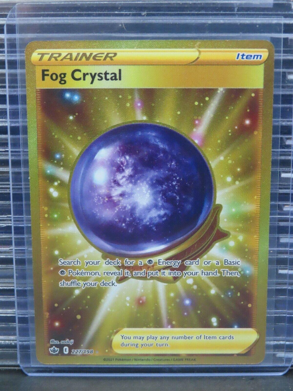 Fog Crystal Gold Secret Rare #227/198 Pokemon Chilling Reign Q918