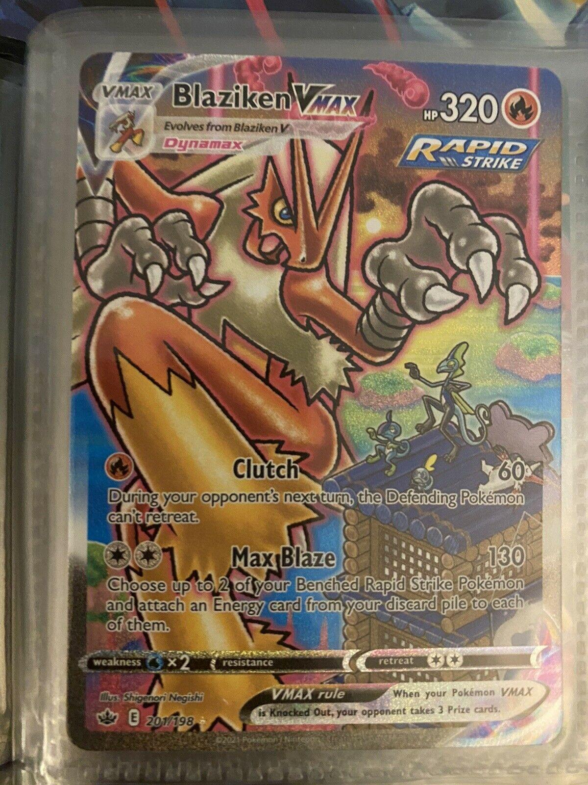 Blaziken VMax Secret Rare - Alternate Art - Pokemon Chilling Reign 201/198
