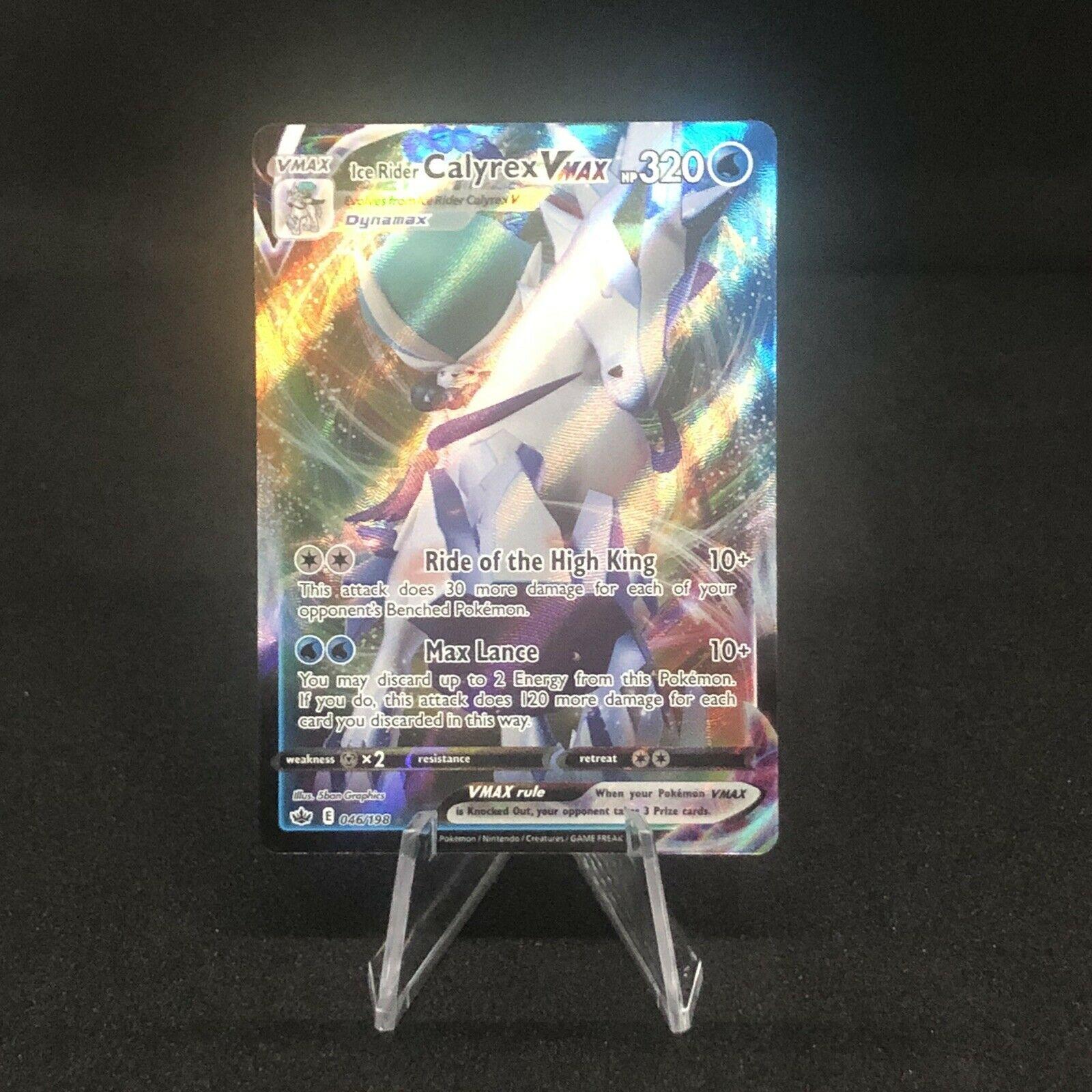 Ice Rider Calyrex Vmax 046/198 Chilling Reign Full Art Mint Pokemon Card