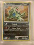 Tyranitar 17/123 HOLO SWIRL Rare Pokemon Card 2007 Mysterious Treasures