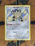 Shiny Galarian Meowth SV086/SV122 Shining Fates Pokemon TCG