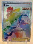 Bruno 172/163 Full Art Rainbow Secret Rare Card Pokemon Battle Styles HOLO Rare