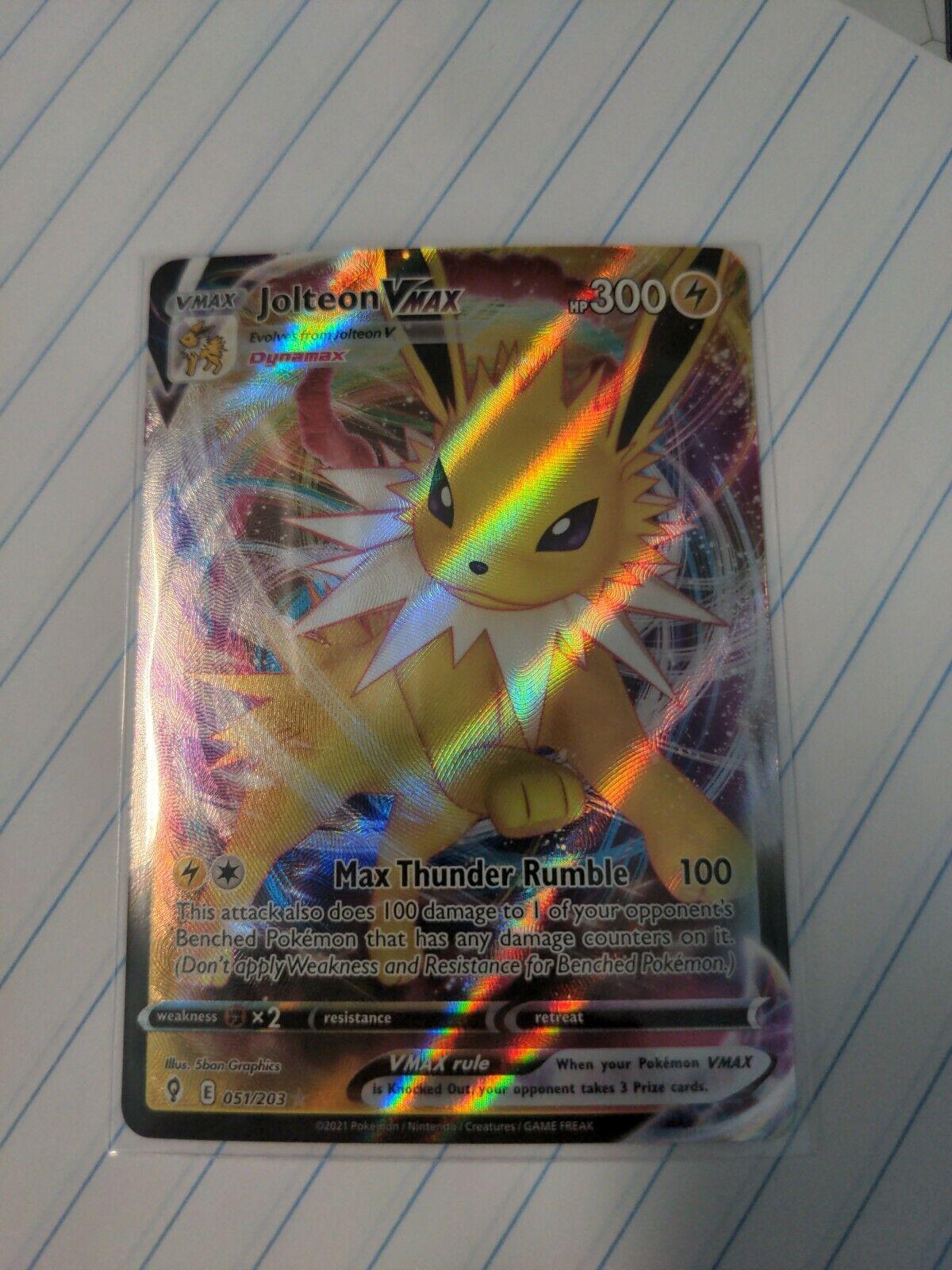 Jolteon VMAX - 051/203 Ultra Rare Pokemon Evolving Skies - NM