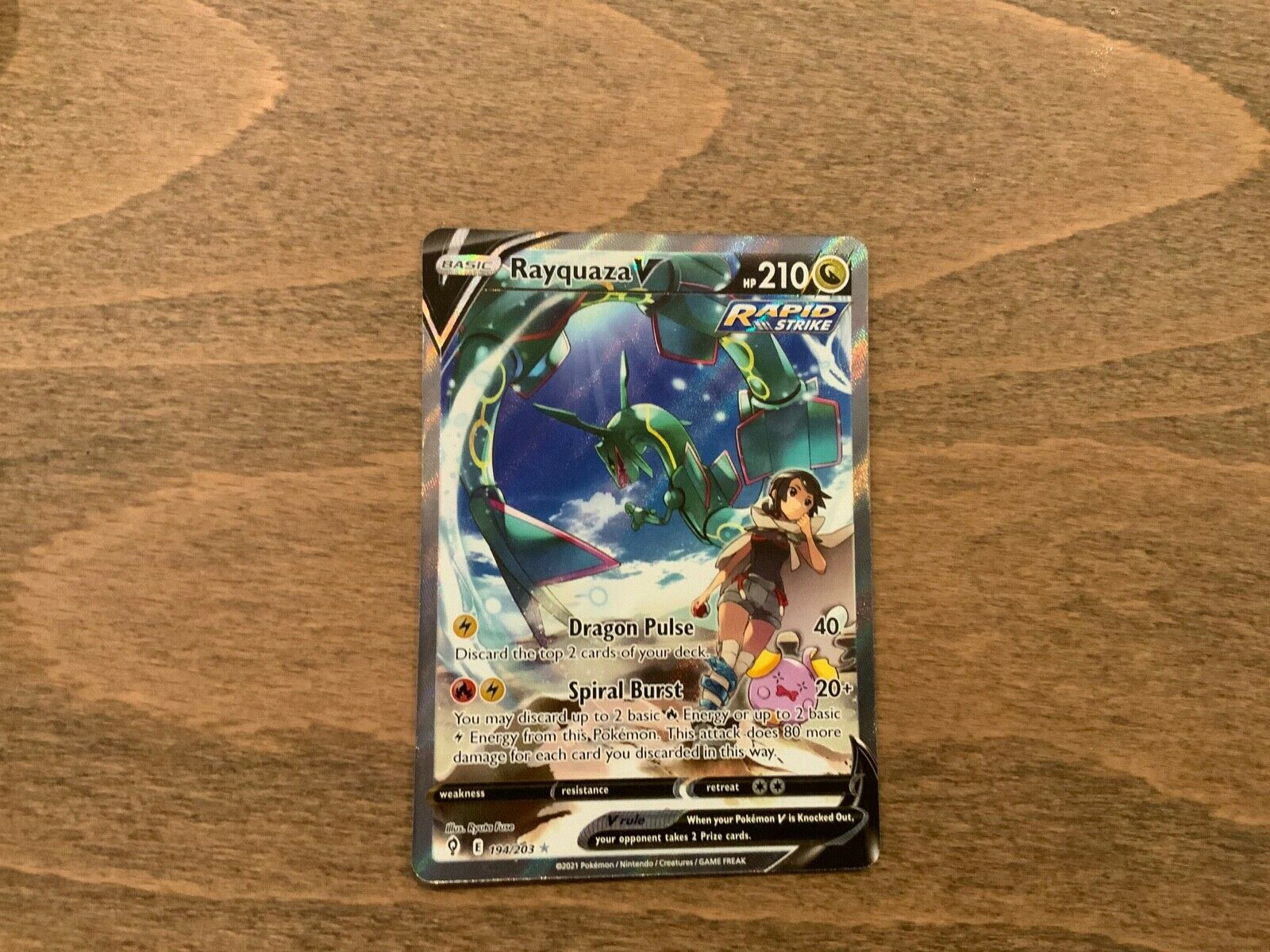 Rayquaza V Evolving Skies 194/203 Full Alternate Art Rapid Strike