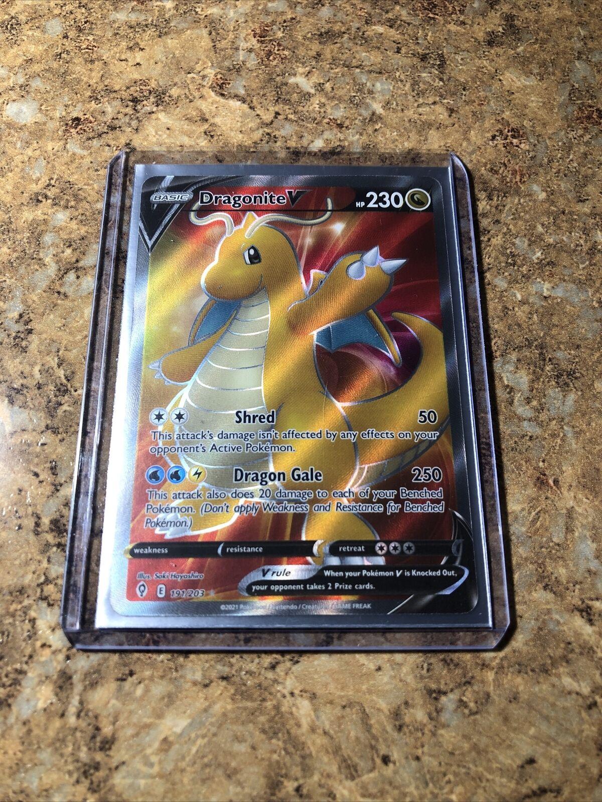 Dragonite V Full Art Ultra Rare Pokemon Card - Evolving Skies 191/203 - MINT