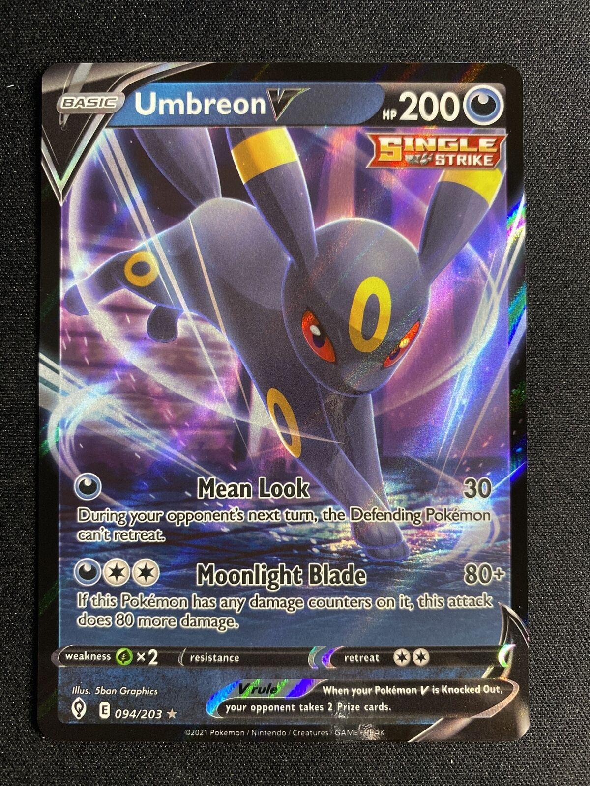 Umbreon V 094/203 Evolving Skies Rare Pokemon Card NM