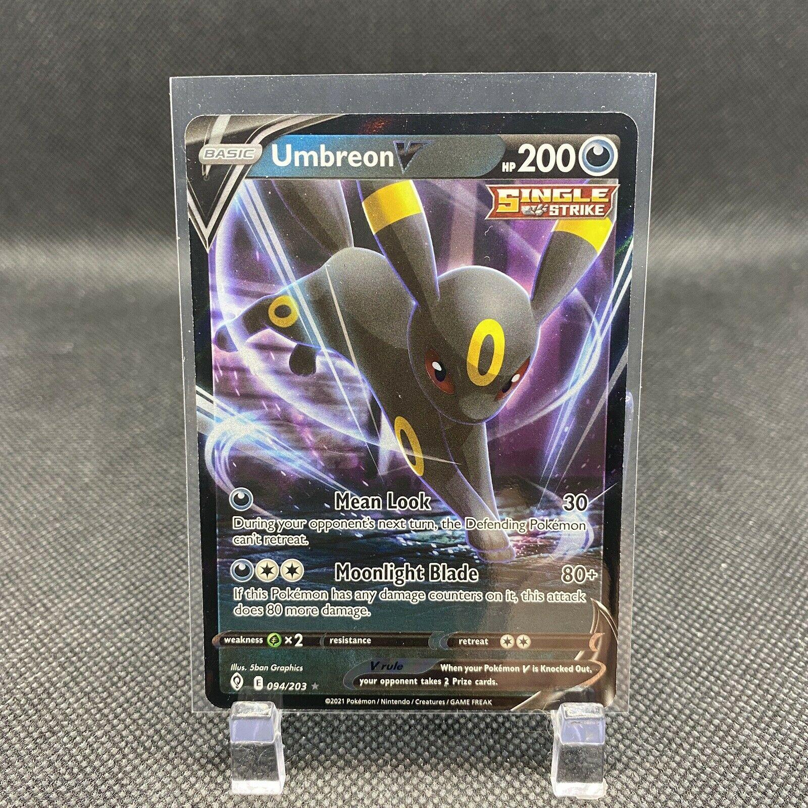 Umbreon V 094/203 Full Art Rare Evolving Skies Pokemon Card Near Mint NM