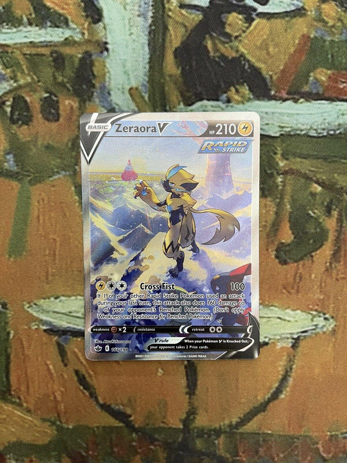 Pokemon TCG Zeraora V (Alternate Full Art) Near Mint Chilling Reign 166/198 NM