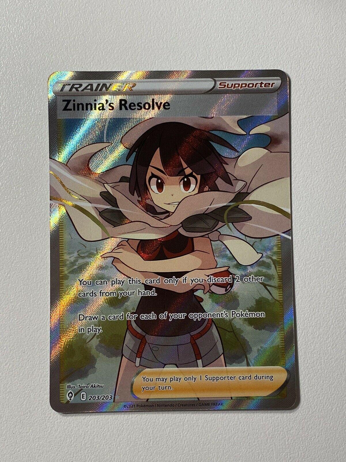 Zinnia's Resolve 203/203 Pokemon Evolving Skies Full Art Trainer MINT