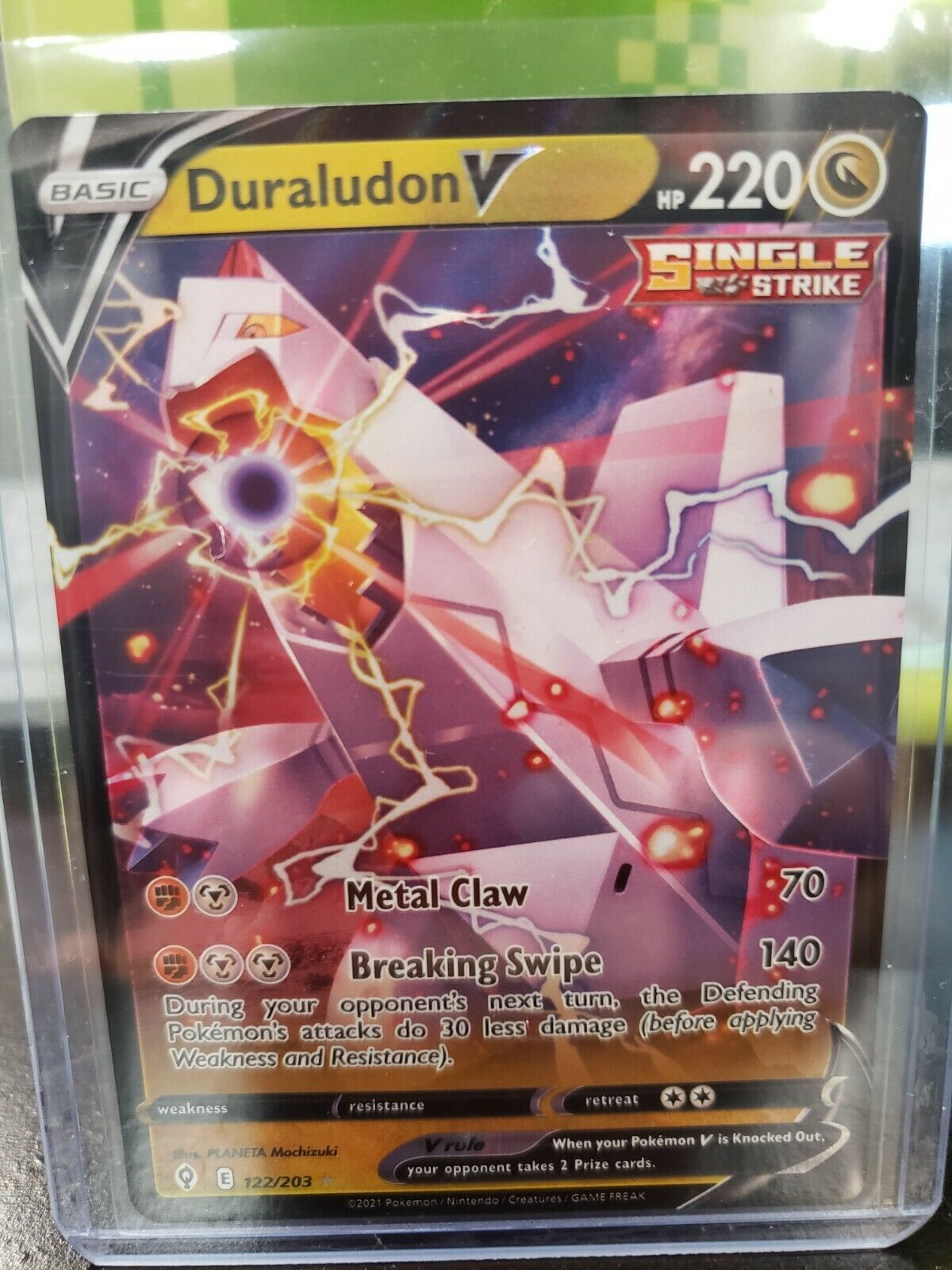 Pokemon - Duraludon V -122/203 - Ultra Rare - Evolving Skies - NM/M - New