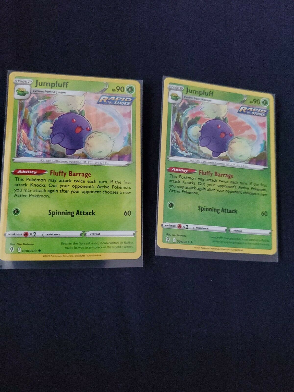 Pokemon - Jumpluff - Evolving Skies - 004/203 - Reverse Holo Rare & Holo Rare