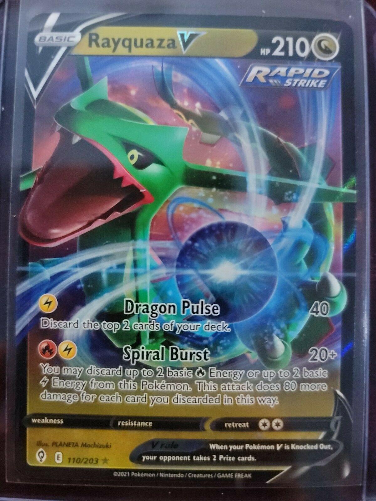 Rayquaza V 110/203 Pokemon TCG Evolving Skies Full Art Ultra Rare LP/NM