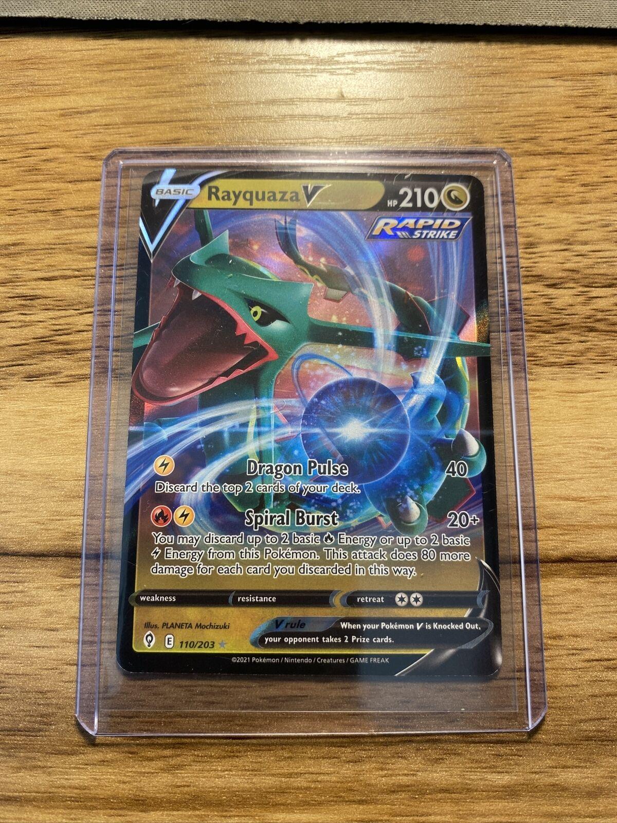 Rayquaza V 110/203 Evolving Skies NM Pokemon Card - Image 1