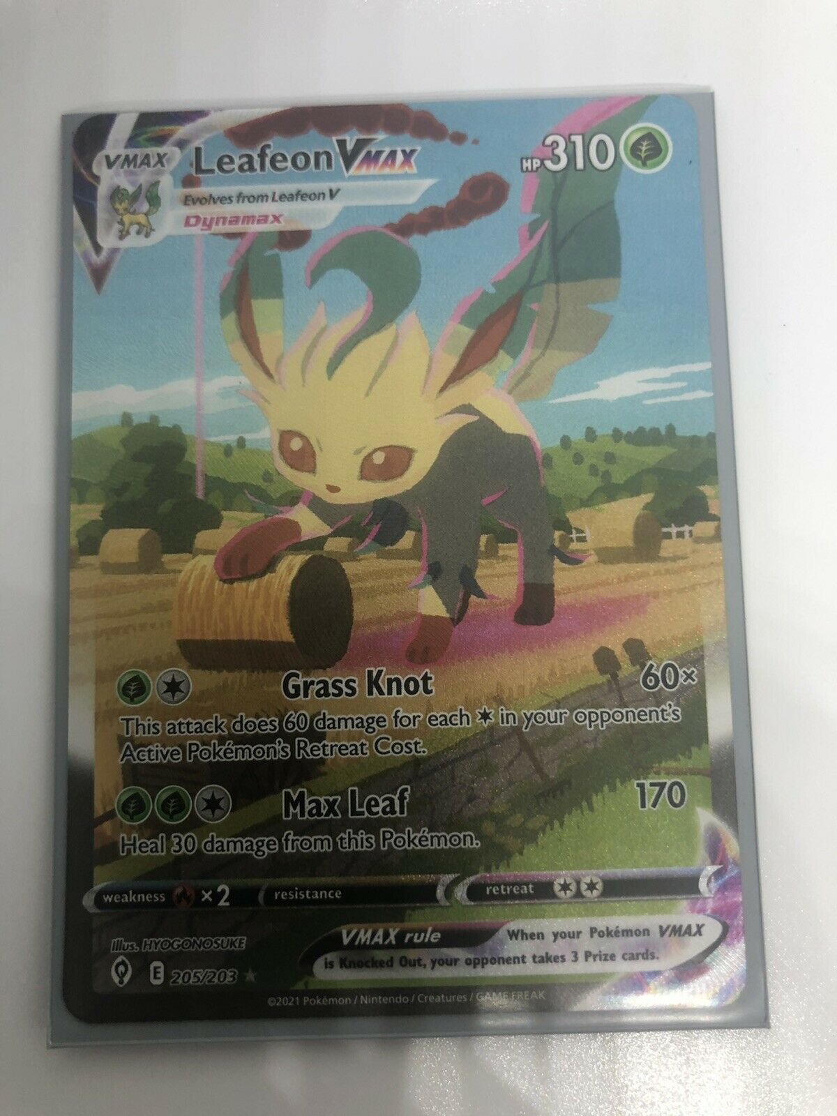 Pokemon: Evolving Skies 205/203 -LEAFEON VMAX- ALT Full Art Holo