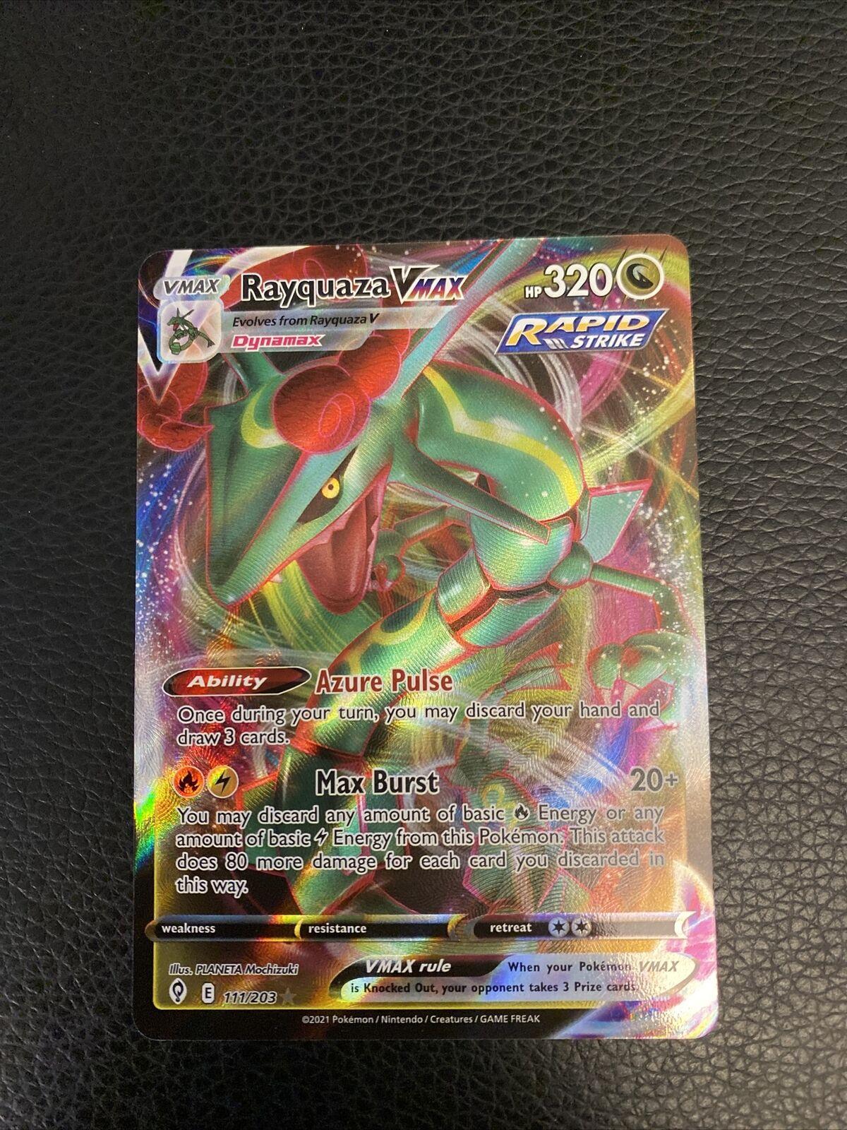 Pokemon Evolving Skies Rayquaza VMAX 111/203 Ultra Rare - NM