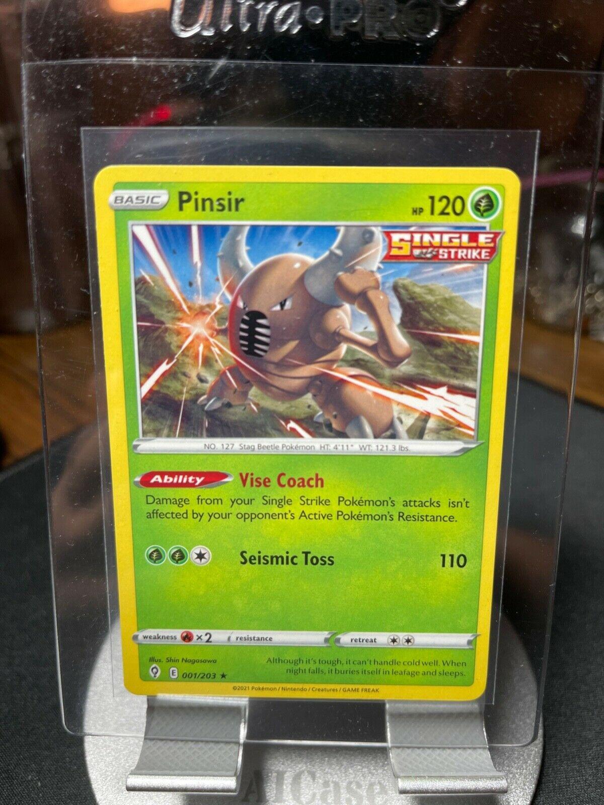 Pinsir (001/203) [Sword & Shield: Evolving Skies] Rare Pokemon TCG