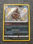 Shiny Galarian Weezing SV077/SV122 Holo Rare Pokémon Shining Fates