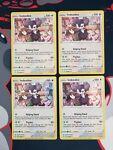 Pokemon Shining Fates 056/072 Indeedee Holo Rare Near Mint X4 Play Set