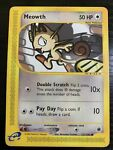 121/165   Meowth   Expedition   Pokemon Card