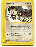 121/165   Meowth   Expedition   Pokemon Card   Mint