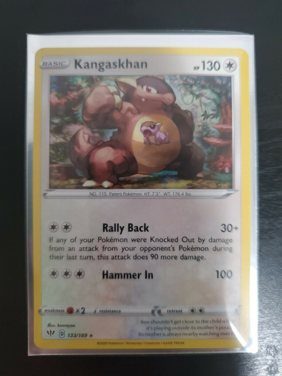 Kangaskhan 133//189 S/&S Darkness Ablaze Reverse Holo  Pokemon