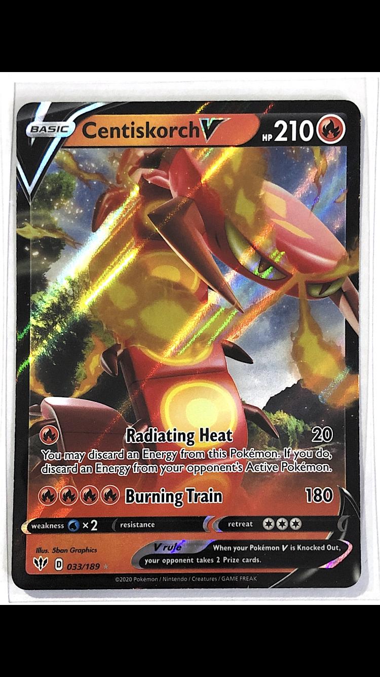 Details about  /Centiskorch V 033//189 Darkness Ablaze Rare Pokemon Card NM