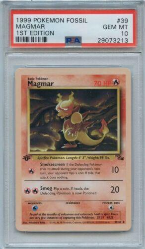 Pokemon Fossil Edition Deutsch 1 Magmar First Edition 39//62
