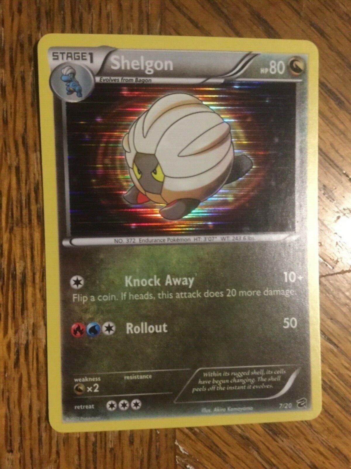 7//20 NM-Mint Pokemon BW Dragon Vault 1x Shelgon