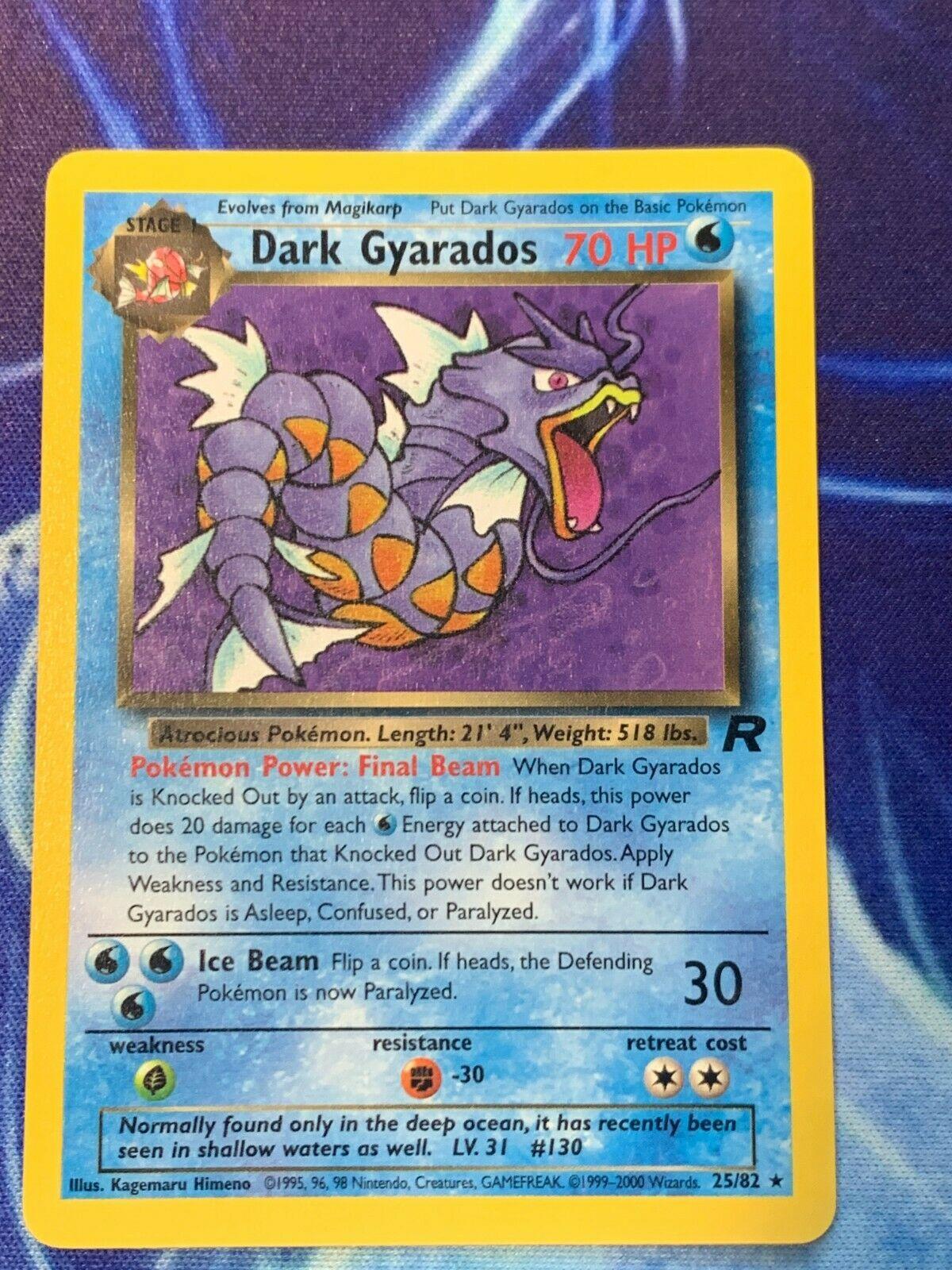Dark Gyarados Rare Pokemon Card Team Rocket 25//82