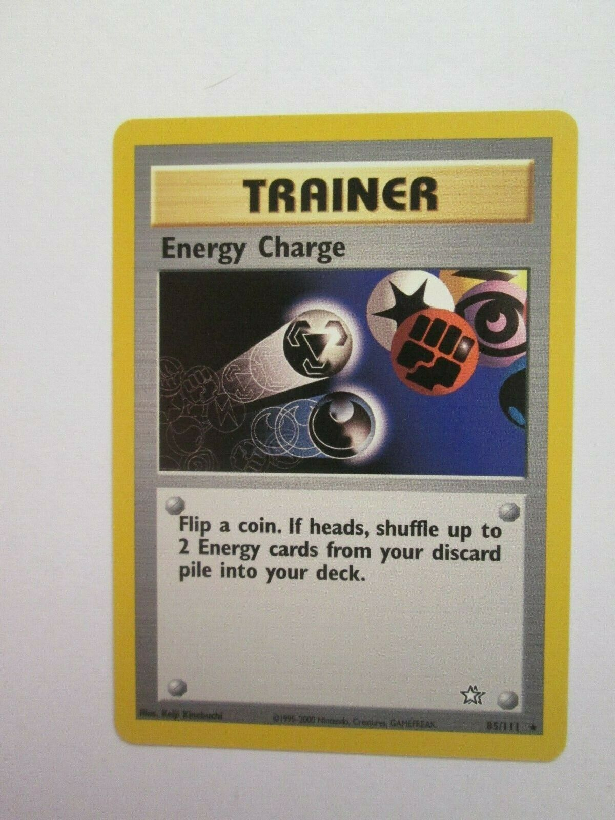 85//111 Energy Charge 1st Edition Ed Neo Genesis Pokemon Card NM//MINT