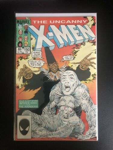 UNCANNY X-MEN 195 Near Mint NM M Mint 9.6 9.8 MARVEL COMICS  stock image 1985